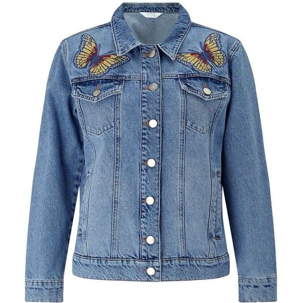 Miss Selfridge Butterfly Denim Jacket ($49) ❤ liked on Polyvore ...