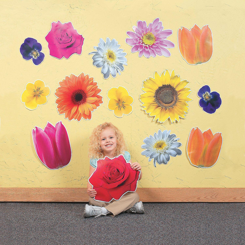 Jumbo Flower Classroom Cutouts - OrientalTrading.com   Weird ...