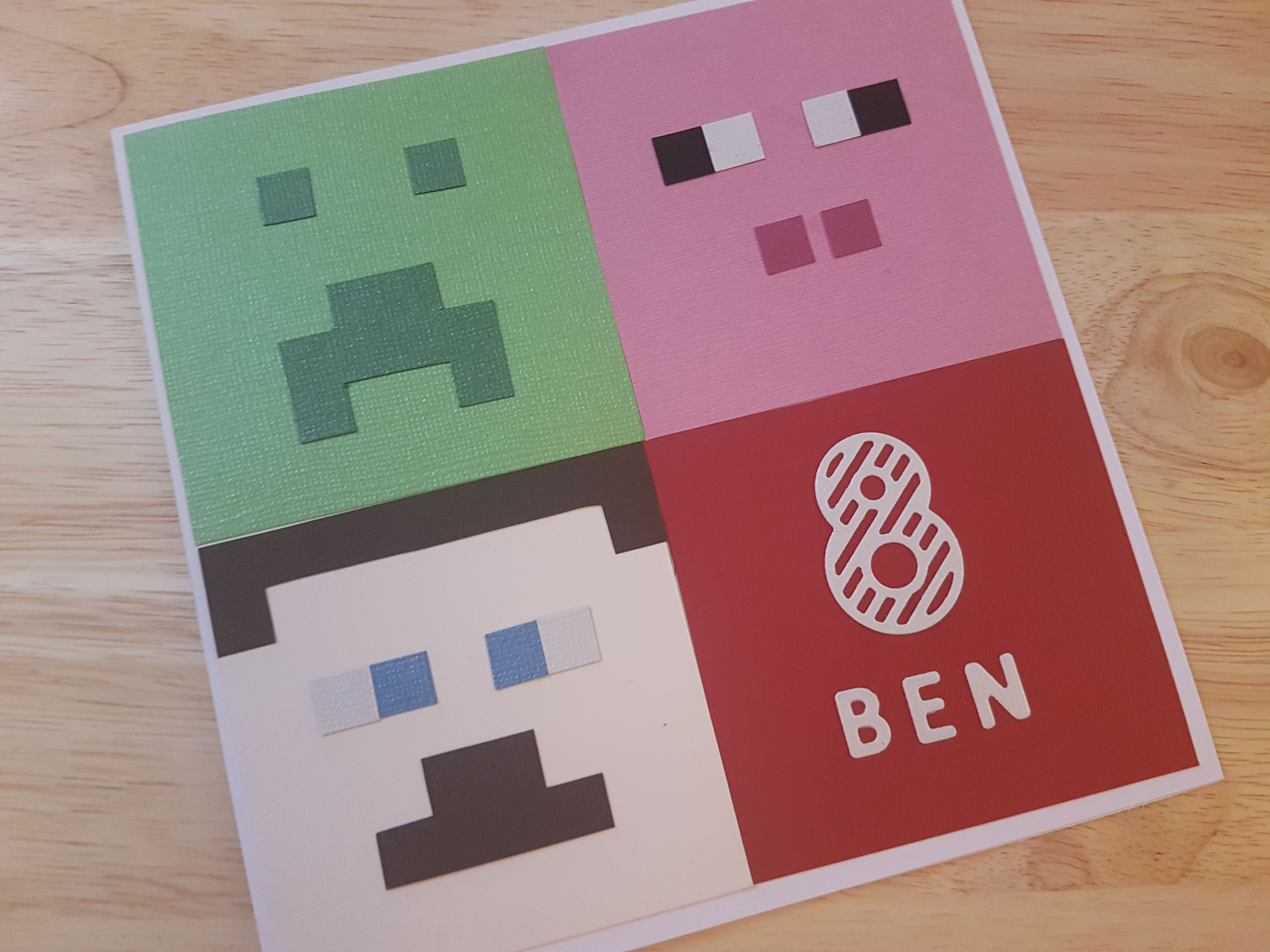 Handmade Minecraft Birthday Card Minecraft Birthday Card Birthday Cards For Boys Minecraft Cards