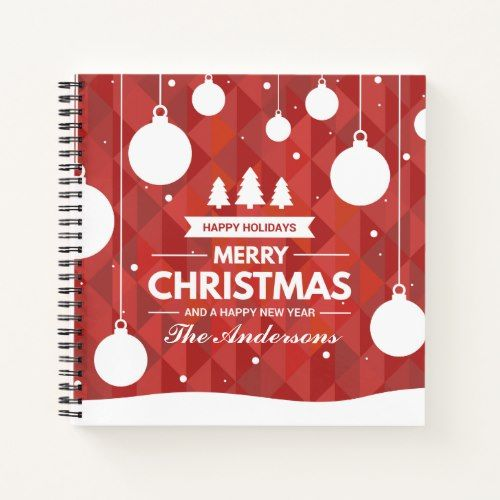 personalized christmas holiday guestbook notebook christmas themes christmas holidays guestbook party hats
