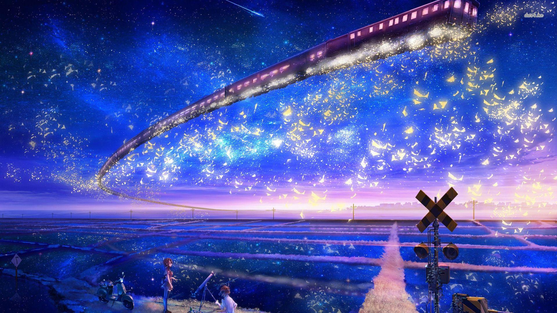Hd Wallpaper Anime Wallpaper X Sky Anime Anime Stars Anime Galaxy