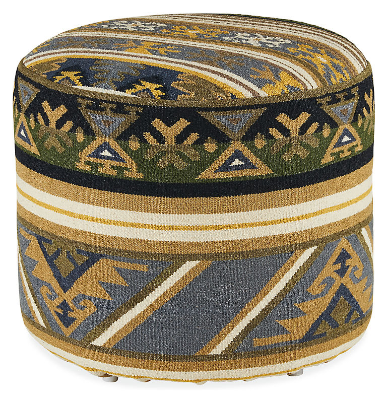 Indira Round Ottoman - Modern Benches, Stools & Ottomans - Modern Living Room Furniture - Room & Board