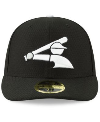 factory price 12cf2 3ec8f New Era Chicago White Sox Batting Practice Low Profile 59FIFTY-fitted Cap -  Black 7