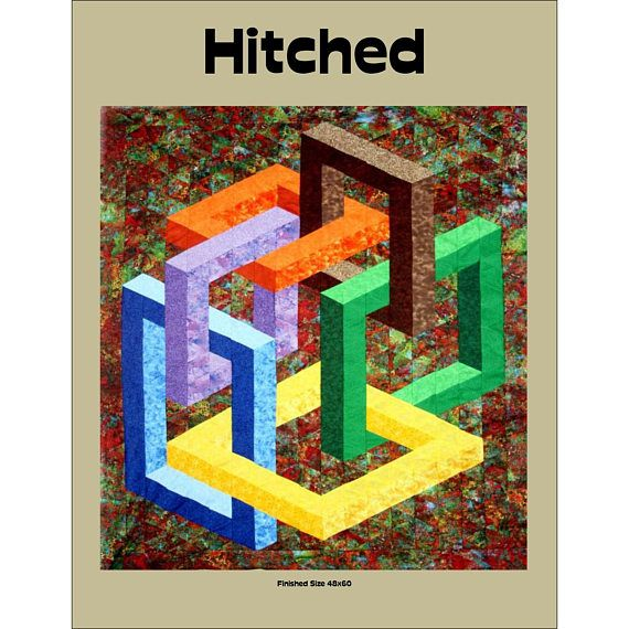 Hitched Quilt Pattern by Quilter's Clinic, Optical Illusion Quilt, 3