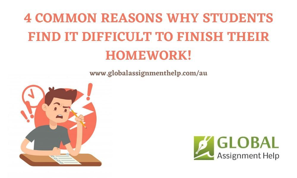 4 Common Reasons Why Students Find It Difficult To Finish Their Homework! | Student, Homework, Homework help