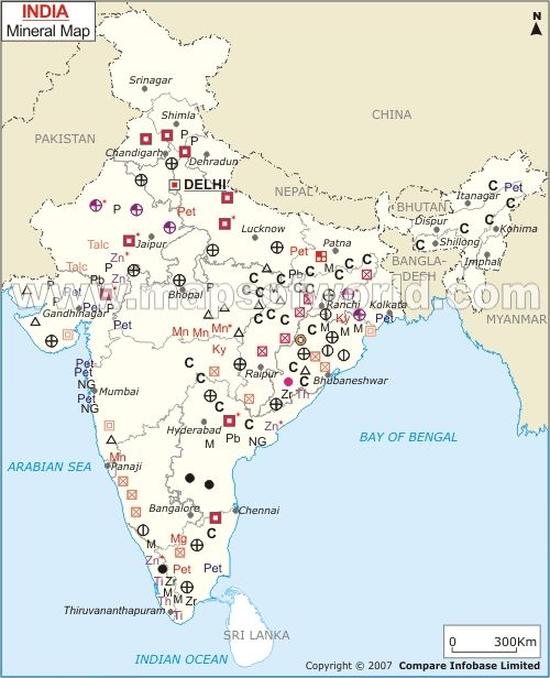 India Mineral Map India in 2019 Natural resources of