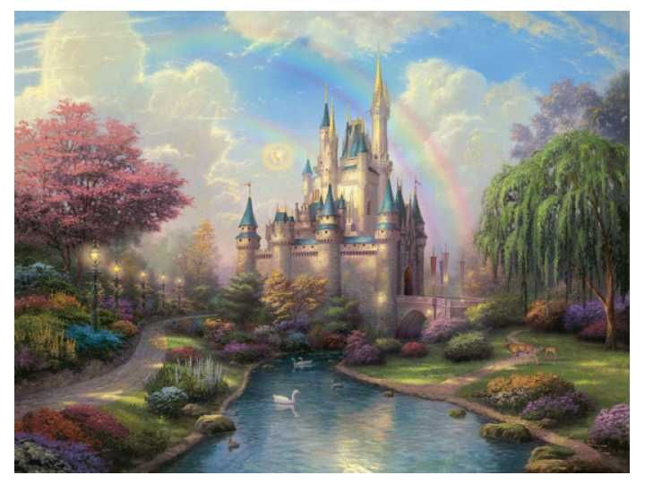 New Day at Cinderella's Castle by Thomas Kinkade