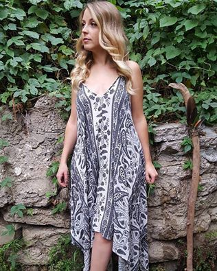 Vintage Bandana Printed Bohemian Strapped by NativeVisionBoutique