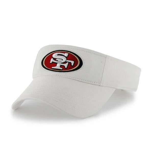 sale retailer 1a2ee 9c4d1 San Francisco 49Ers Clean Up Visor White 47 Brand Adjustable Hat
