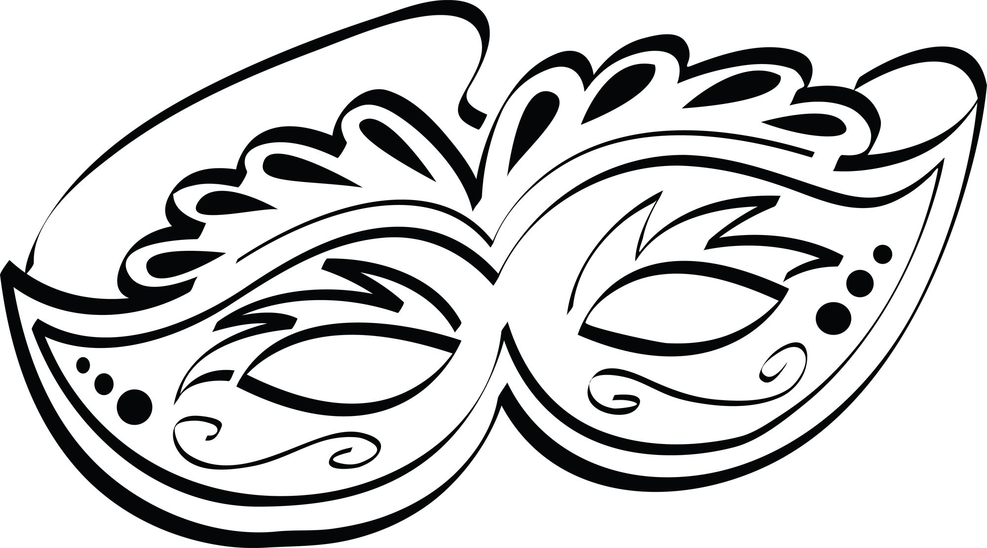 11 best photos of mardi gras mask drawings new orleans mardi