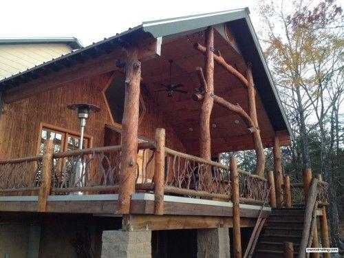 Arkansas Log Home and Branch Railing