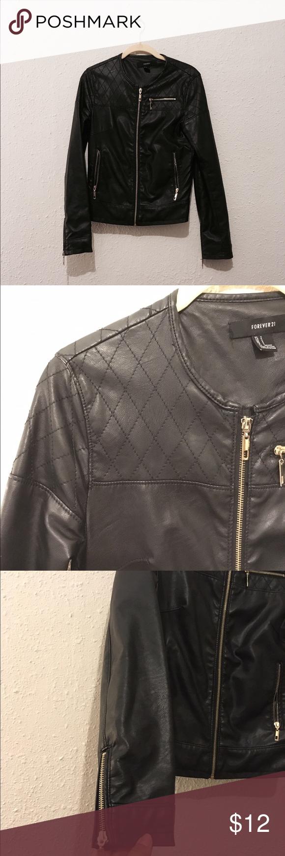 Leather jacket damage - Leather Jacket Forever 21 Moto Leather Jacket Little Outside Damage However The Sleeve Inseam Has