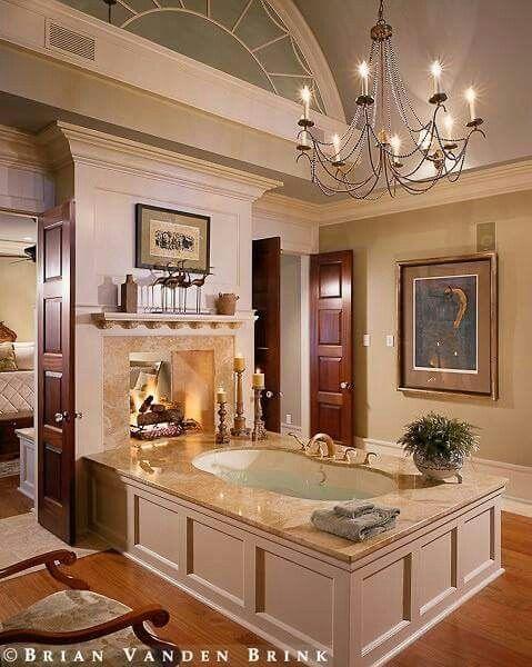 Master Bath With Fireplace Modern Luxury Bathroom Luxury Master Bathrooms Bathroom Design Luxury