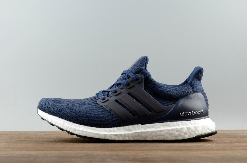 392482e5d7073 Best Price Free Shipping Authentic Men Adidas Ultra Boost 3.0 Real Boost  Dark Blue for Online Sale 01