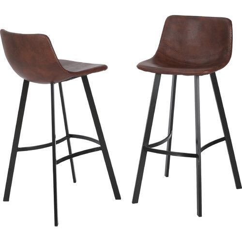 Latitude Run Mary Kate 30 Quot Bar Stool Leather Bar Stools 30 Bar Stools Bar Stools