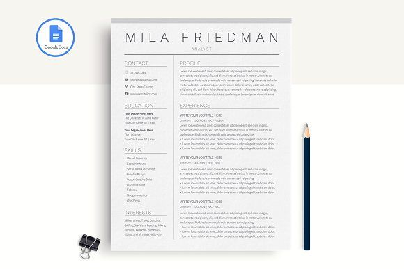 google docs resume template resumes