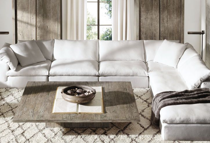 Get A First Look At Restoration Hardware S New Home Products Restoration Hardware Living Room Home Home And Living