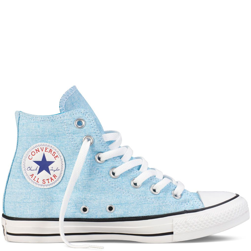 c9fc30afa478 Converse - Chuck Taylor All Star Basic Washed Neons Hi Canvas Shoes in Neon  Blue.  55.00