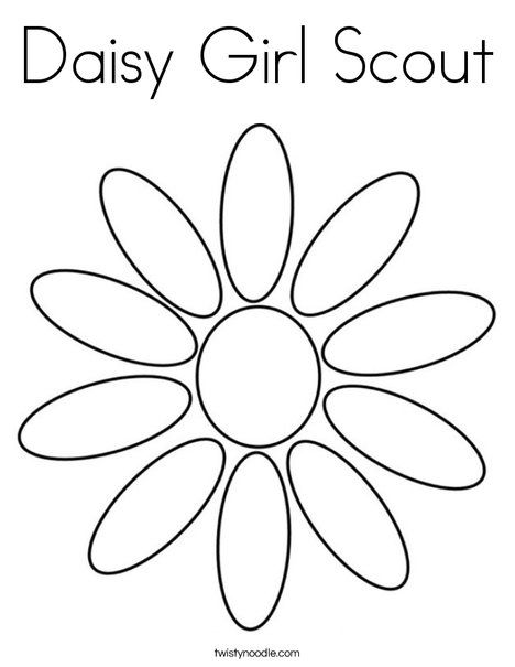 Daisy Girl Scout Coloring Page - Twisty Noodle | Girl scouts troop ...