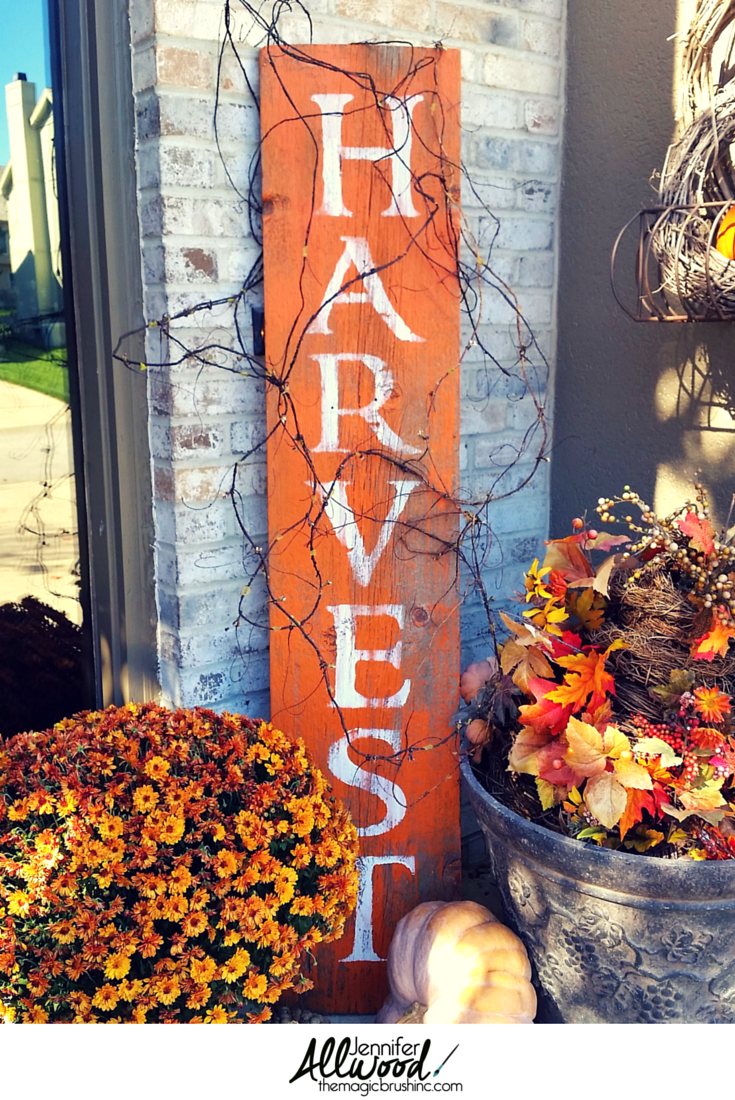 Harvest Sign On Barnwood For Fall Front Porch Decor Fall
