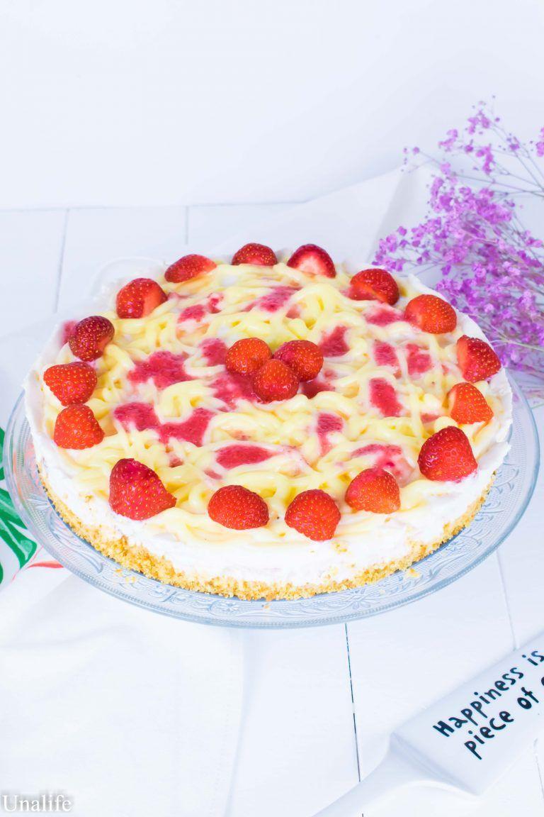 Spaghetti Eis Torte Mit Erdbeeren Ohne Backen Spaghetti Eis Kochen Und Backen Und Leckere Torten