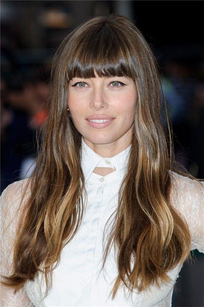 Jessica Biel Con Flequillo Recto Hair Cut Pinterest Hair Cuts