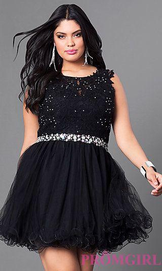 plus size black homecoming dresses