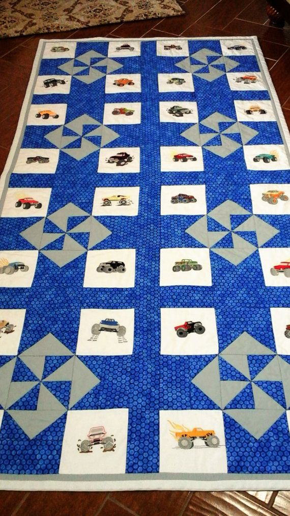 Twin size handmade quilt  Boys Dream of Monster by CraftsNQuilts1