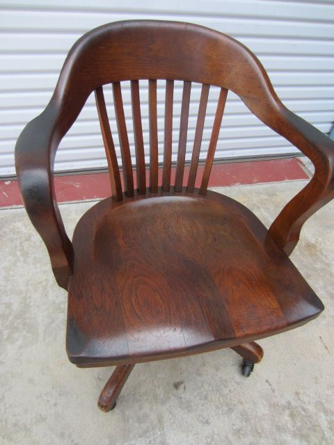 American Antique Office Chair Swivel Chair Arm Chair Antique