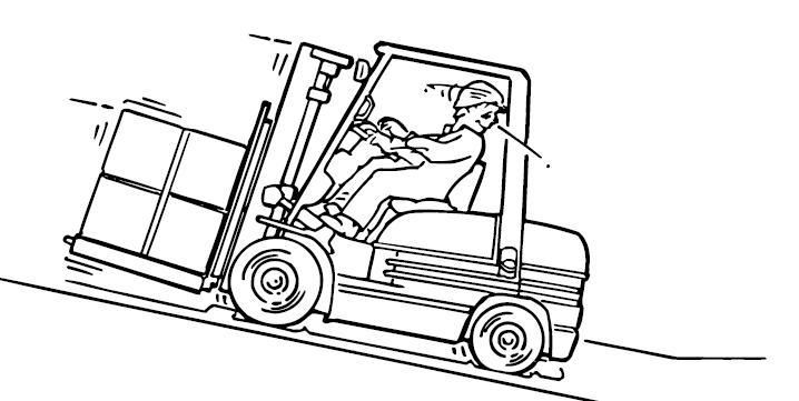 Consejos de seguridad carretillas elevadoras. En una rampa