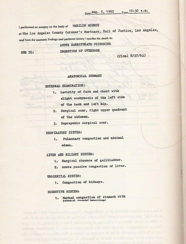 marilyn monroe death certificate results conspiracy jacaranda mobi theories fm behind site
