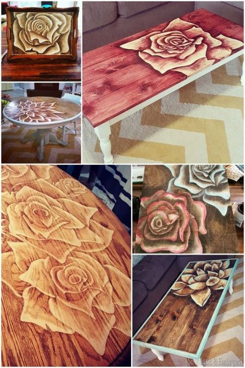 Photo of My newest 'Shading with Stain' Table!   Reality Daydream