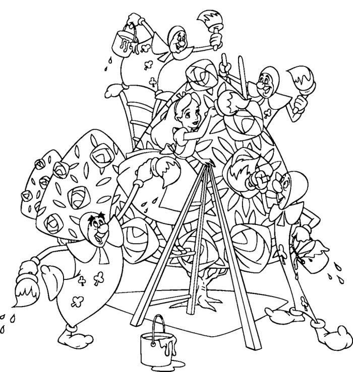 Free Printable Alice in Wonderland Coloring Pages http://procoloring ...