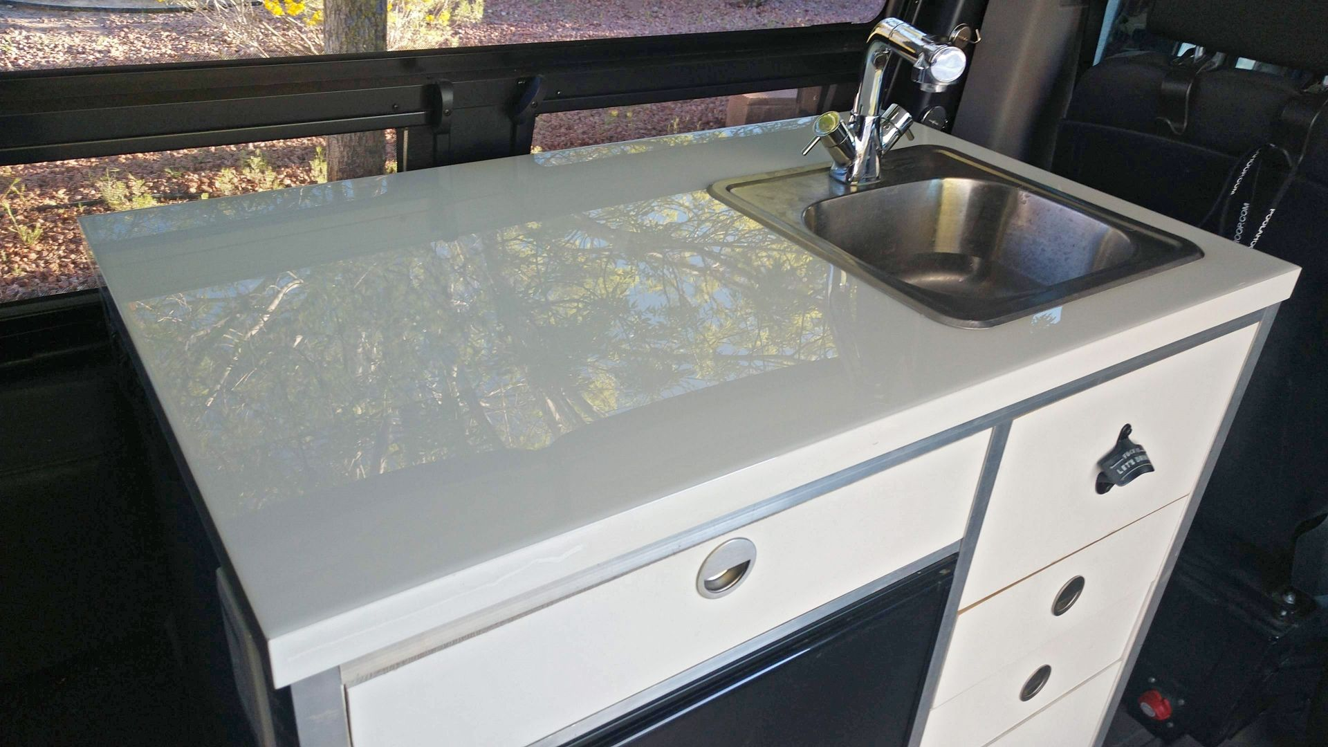 Durable Countertop And Tabletop Solution For Our Sprinter Van Durable Countertops Table Top Countertops