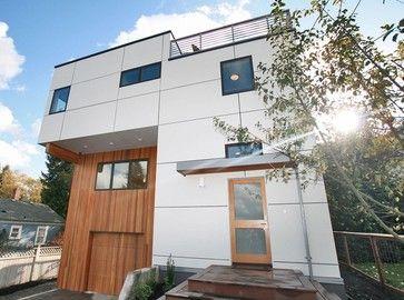 Green Cubed Modern Exterior Photos Modern Exterior Modern House Exterior House Exterior