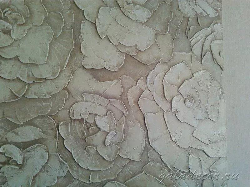 Декоративная штукатурка цветы 16