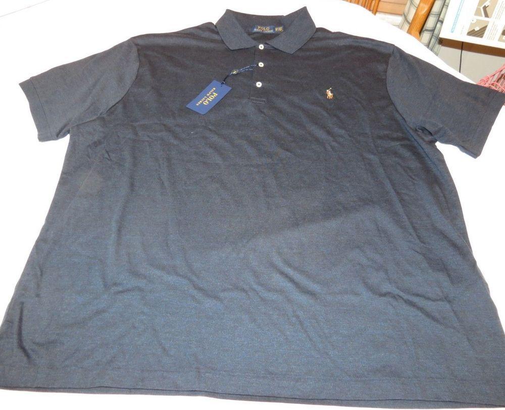 Mens Polo Ralph Lauren short sleeve polo short 2XB BIG Dark Navy 480008 NWT   PoloRalphLauren  Polo ebe054eaee1e
