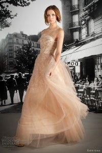 Extravagant Peach wedding dress