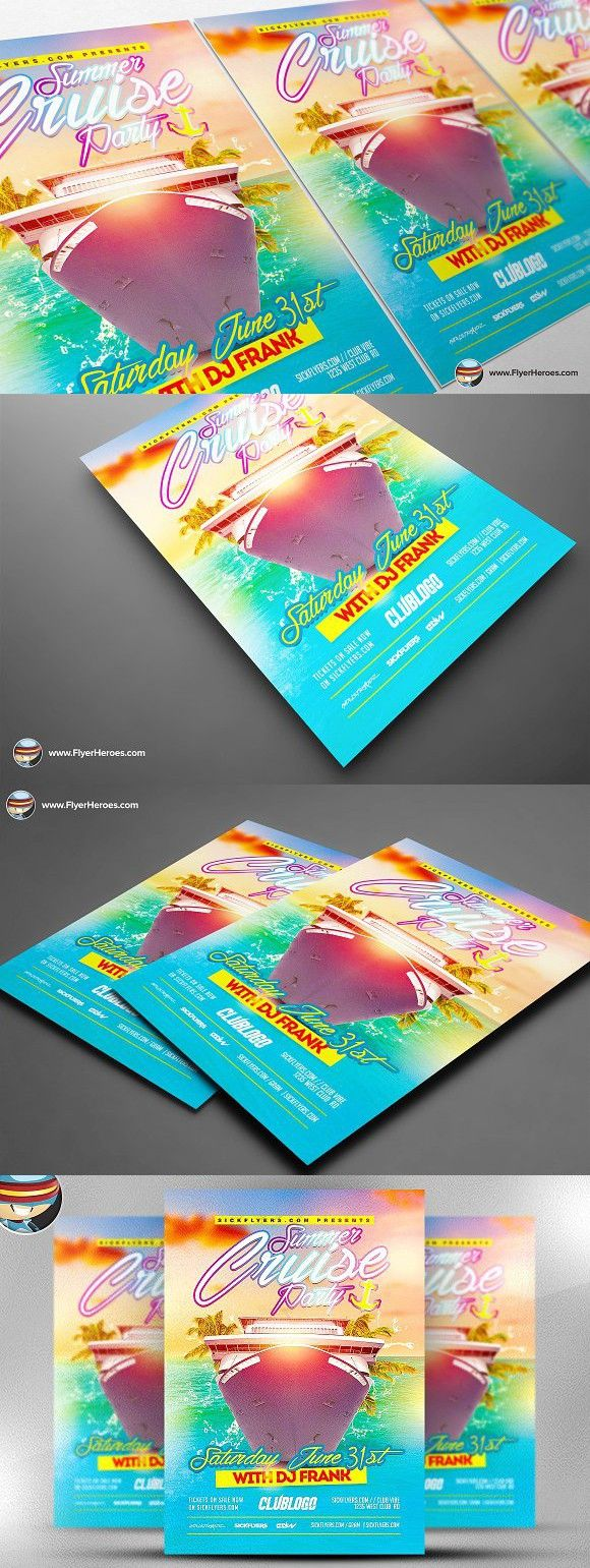 Summer Cruise Party Flyer Template Cruise Party Party Flyer And