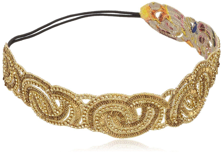 Deepa Gurnani Hand Embroidered Elasticated Headband