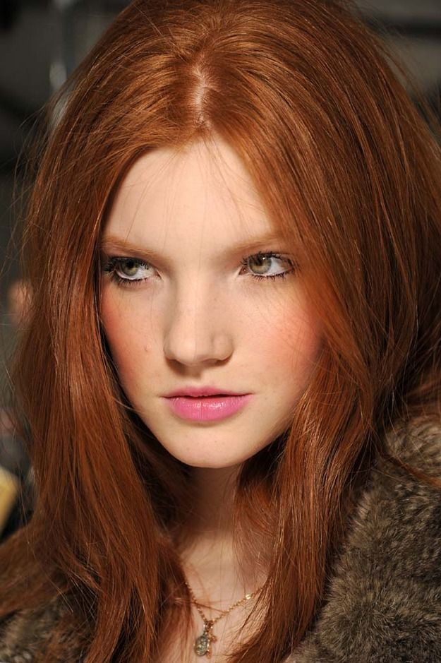 this pink lip is perfect Beautiful hair, Redheads