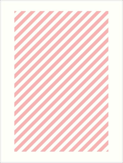 Pink Amp White Diagonal Stripes Artwork Design Also Buy This Artwork On Wall Prints Apparel Stickers And More Striped Artwork Diagonal Stripes Stripes