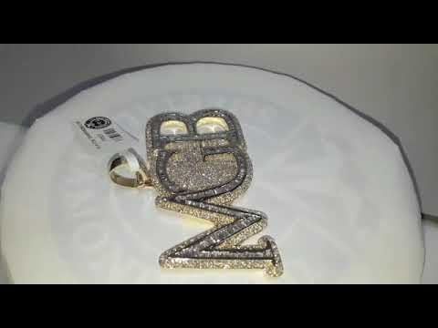 #P0927 #6.39Cts #10kGold 41.880gms #HiphopPendant #HiphopJewelry #Realdi...