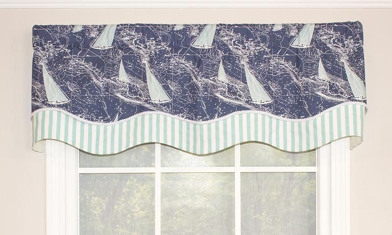 Chart A Course Glory Valance Valance Beach Themed Room