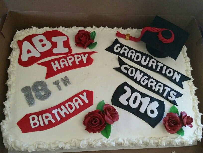 Outstanding Combo Birthday Graduation Cake Graduation Party Diy 18Th Personalised Birthday Cards Akebfashionlily Jamesorg