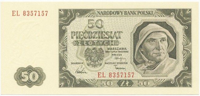 50 Zlotych 1948 Fischer 50er