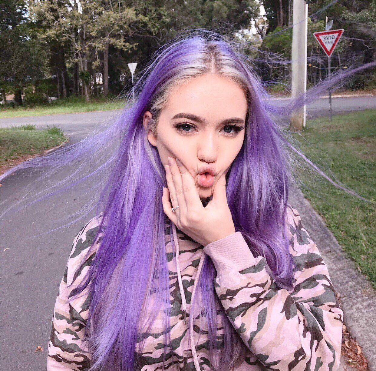Purple Hair Tumblr Hair Styles Purple Hair Tumblr Hair Inspo Color