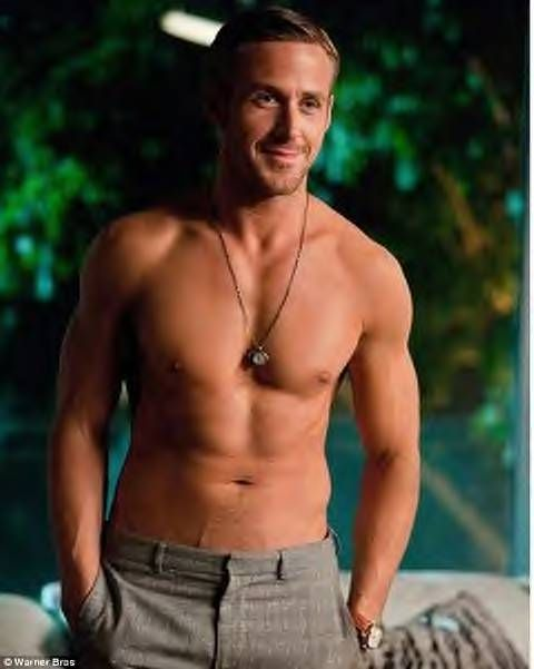 Ryan Gosling With No Shirt Hold Me Back Fitness Workout