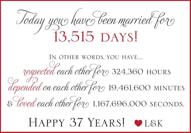 37th Wedding Anniversary Gifts: Wedding Anniversary Quotes