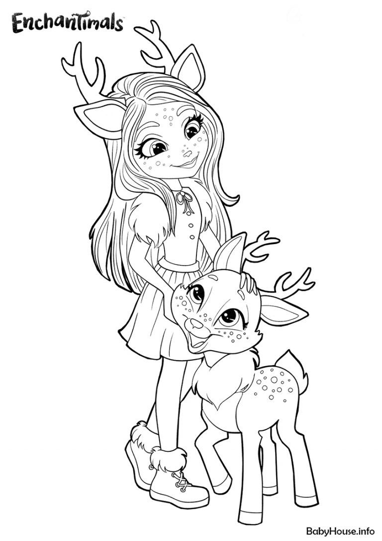 Enchantimals Sharacters Coloring Page Enchantimals Babyhouse Info Cute Coloring Pages Cool Coloring Pages Coloring Pages